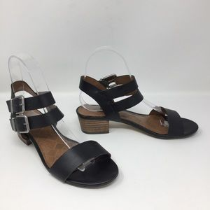 Lucky Brand Genuine Leather Double Buckle Sandals